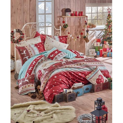 Flanell Winter Bettwäsche 135x200 Cm Santa 3tlg Set 100baumwolle