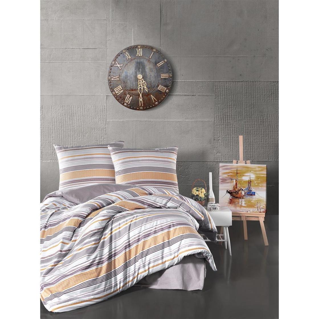 Top Model Bettwäsche : bettw sche 155x220 cm 2 teiliges set gestreift 100 baumwolle ren 21 90 ~ Watch28wear.com Haus und Dekorationen