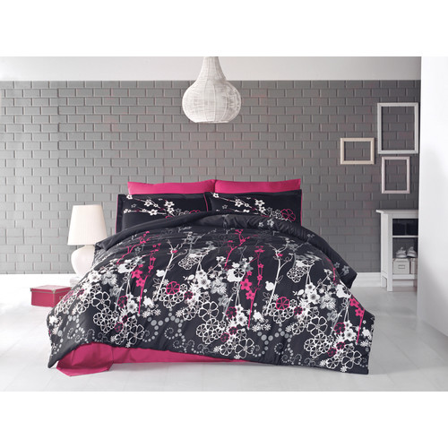 satin bettw sche 240x220 cm harmony v1 5tlg set 100 baumwolle sati 44 50. Black Bedroom Furniture Sets. Home Design Ideas