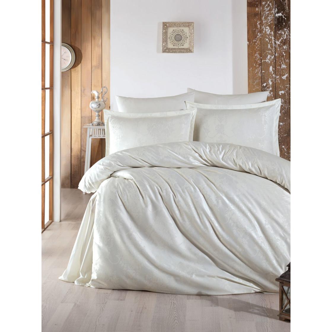 jaquard satin bettw sche 200x220 cm 2 x kissenbezug 80x80cm calista 39 90. Black Bedroom Furniture Sets. Home Design Ideas