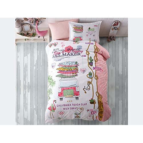 Kinder Bettwäsche 135 X 200 Cm Aloha 100 Baumwolle Mit