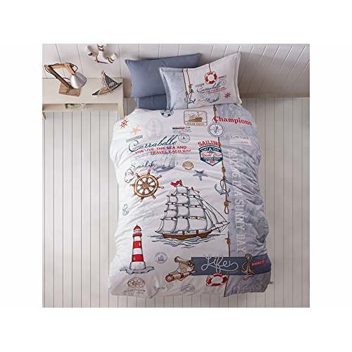 Kinder Bettwäsche 135 X 200 Cm Sea Life 100 Baumwolle Mit