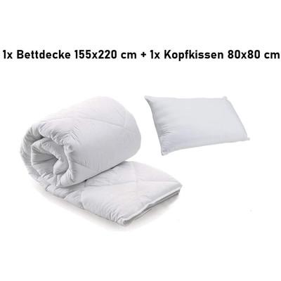 100/% Baumwolle 4 Jahreszeiten BETTDECKE STEPPBETTDECKE 200x200 cm